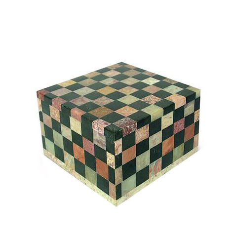 Fair Trade Marble Inlay Jewelry Box