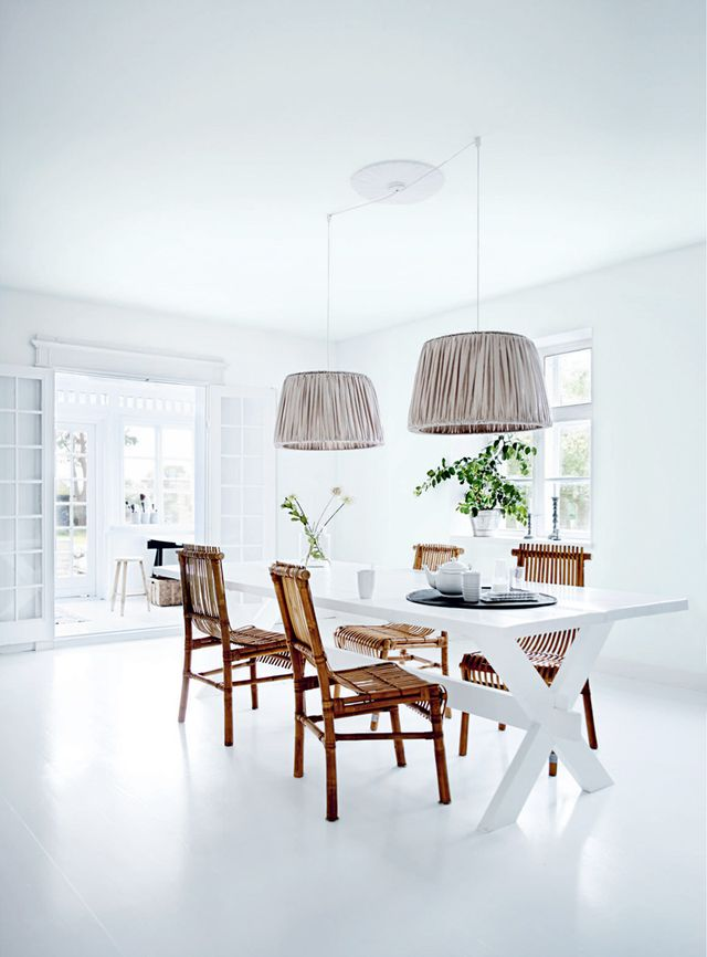 This light and airy dining room is the epitome of chic. This room is totally dedicated to the art of eating, and who wouldn't enjoy indulging on fine food and wine in this space? Once again,...