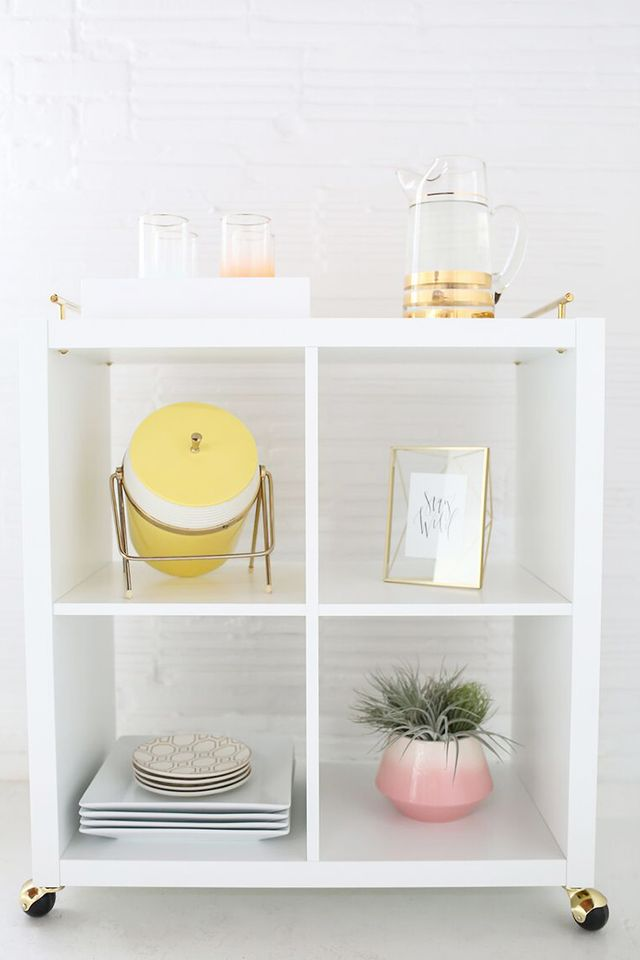 White-and-Gold Bar Cart