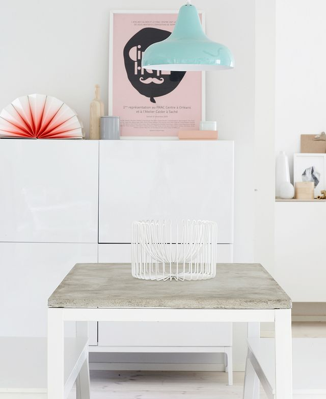 Concrete-Topped Accent Table