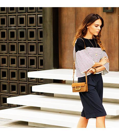 Styleheroine is wearing: ASOS shorts, Yves Saint Laurent bag.  Get The Look: MadewellEmbossed Cross Body Bag ($135)  See more ways to wear Yves Saint Laurent bagson Pose.com.