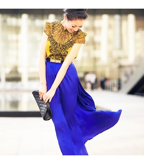 Wendyslookbookis wearing: Karen Millen shirt, Rachel Zoe skirt.  Get The Look: River IslandPleated Maxi Skirt ($48)  See more ways to wear maxi skirtson Pose.com.