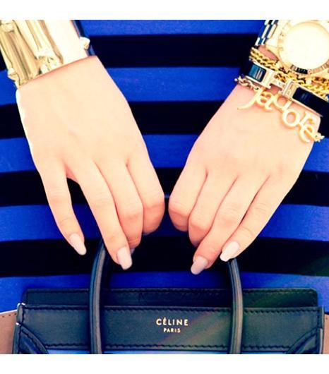 Annabrain is wearing: Hermes bracelet, Celine bag, Marc by Marc Jacobs watch.  Get The Look: Opening Ceremony LA Colour-Block Satchel ($322)  See more ways to wear Celine bagson...