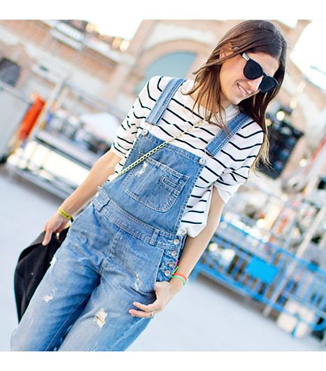 Balamoda.net is wearing: Ted Baker sweater, ASOS overalls.