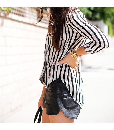 Caseyscollection is wearing: Sheinside shirt, Urban Outfitters shorts, Luv AJ bracelet. 
