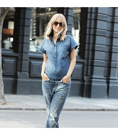 Thefashionguitaris wearing: Acne jeans, Prada sunglasses.  Get The Look: kate spade new york Lulu Square Sunglasses ($138)  See more ways to wear Prada sunglasseson Pose.com.