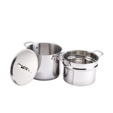 8-Quart Self-Draining Stainless Steel Pasta Cooker
