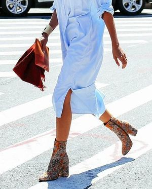 How to Transition Your Shirtdress Into Fall