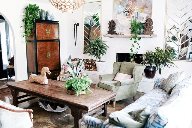 MYDOMAINE: What inspired you to make over your home in this way?  JUDY ALDRIDGE: I have always dreamed of being able to empty my home and refill it with items from the thrift store. I'm a...