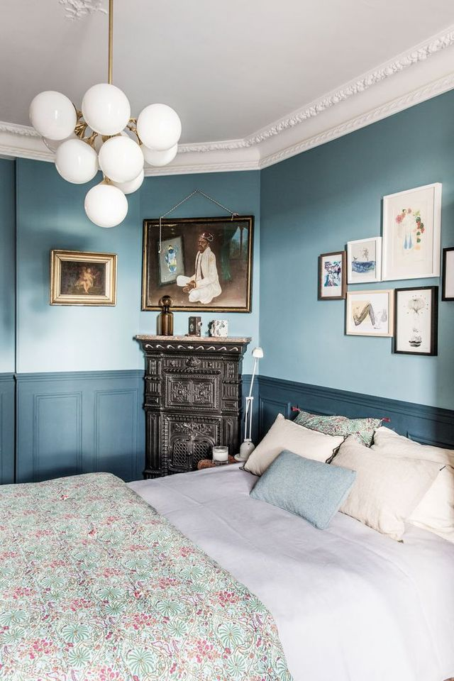 The bedroom in this Paris-adjacent apartment in Montreuil, France, is whimsical and storied—a combination fit for afternoons spent reading and dreaming.