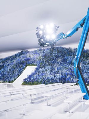 This Time-Lapse of Dior's Flower Mountain Being Built Is Insane