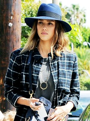 The It-Girl Way to Do Fall Plaid—Thank You, Jessica Alba