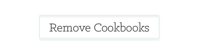If you have a limited amount of shelf space in thekitchen, don't devote one shelf to your cookbook collection. Instead, use that shelf for essential everyday items. Place...