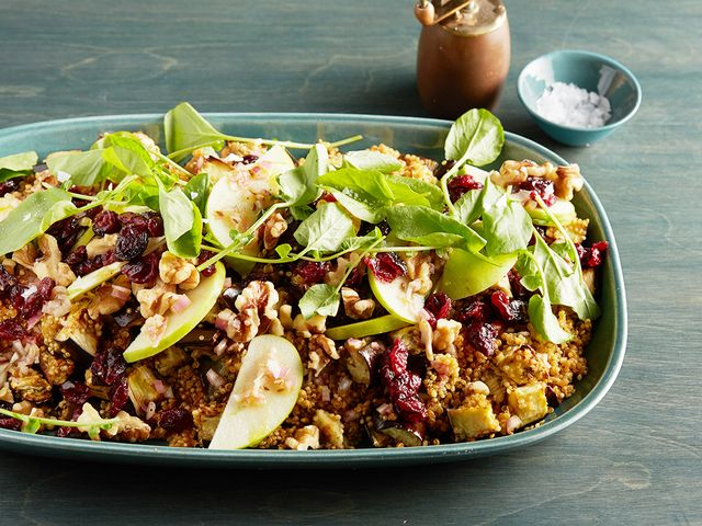 Quinoa, Roasted Eggplant, and Apple Salad