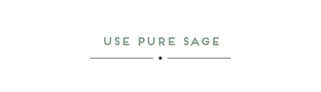"""""""In terms of clearing effectively, you want to be using pure sage. It is the most effective. Often, you will find sage wrapped with lavender or eucalyptus. If you are simply burning it as..."""