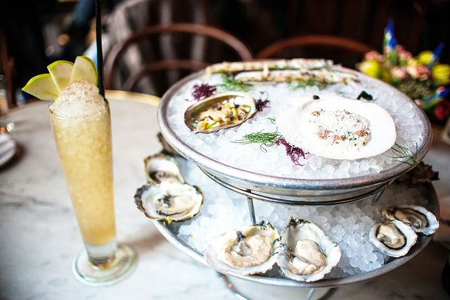 Maison Premiere Location: Brooklyn My FAVORITE oyster place in Brooklyn has an old-school magic about it. Make sure to go during happy hour for $1 oysters! Get yourself a tower of everything the...