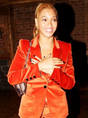 Would You Wear It? Beyoncé's Orange Velvet Suit