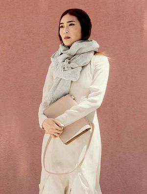 Jayne Min Masters a Neutral Layered Look for Fall