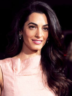Amal Clooney Wears Pink on the Red Carpet Last Night, Looks Amazing