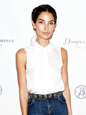Lily Aldridge Brings Back the Denim Skirt
