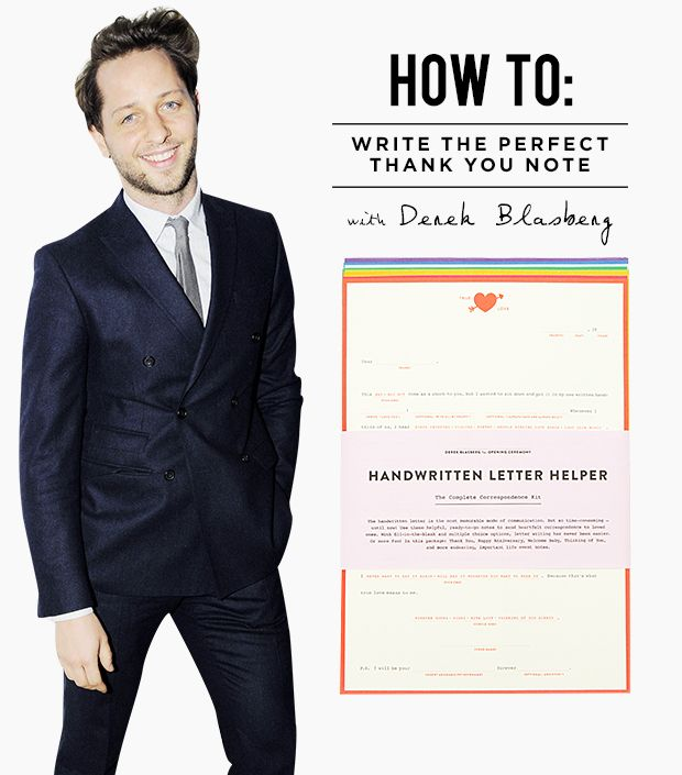 Thank You Notes 101: Derek Blasberg's Expert Tips