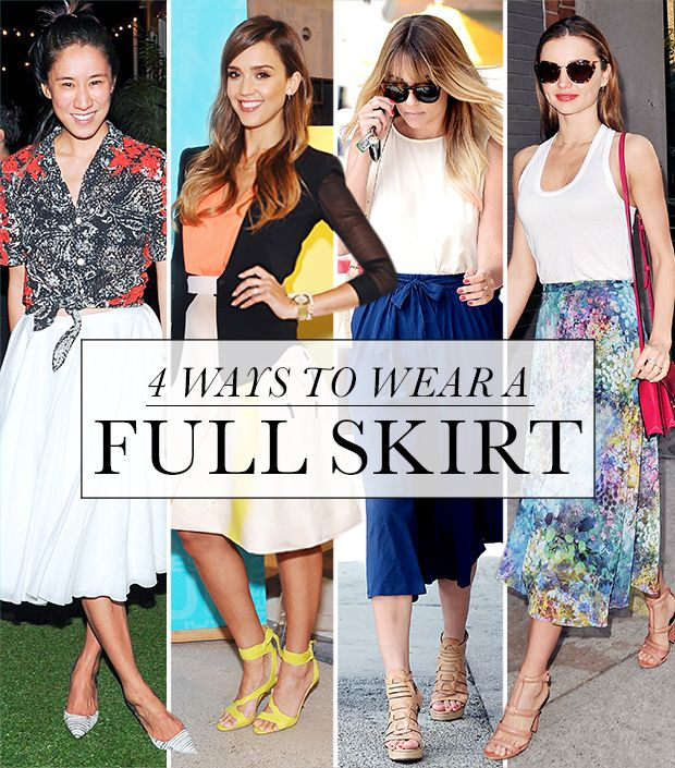 4 Stylish Ways To Wear A Full Skirt This Week
