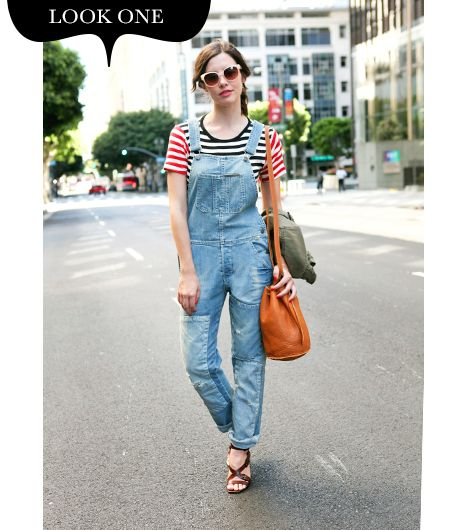 Overalls are inherently comfortable, so for my first look I wanted to embrace the causal feel. When dressing down dungarees, the main goal is to keep them from looking disheveled. My tip: pay...