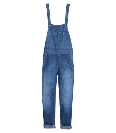 Give these overalls a sexy spin by pairing them with a low-back blouse.