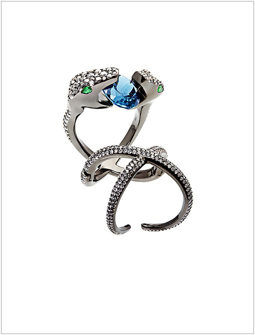 Jungle Fever Serpent Ring ($20559, 323.822.3600) Specializing in bespoke jewelry, Daniel-Philip Belevitch's contemporary designs evoke an imaginative spirit, each piece containing the brand's...