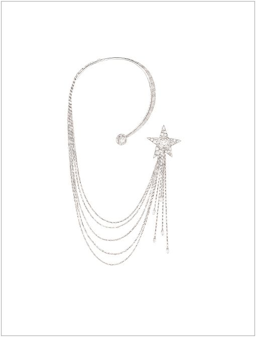 "Étoile Filante Necklace (Price Upon Request, 1800.550.0005) in 18K White GoldIn celebration of the 80th anniversary of the ""Bijoux de Diamants"" exhibition-Chanel's first-ever fine jewelry..."