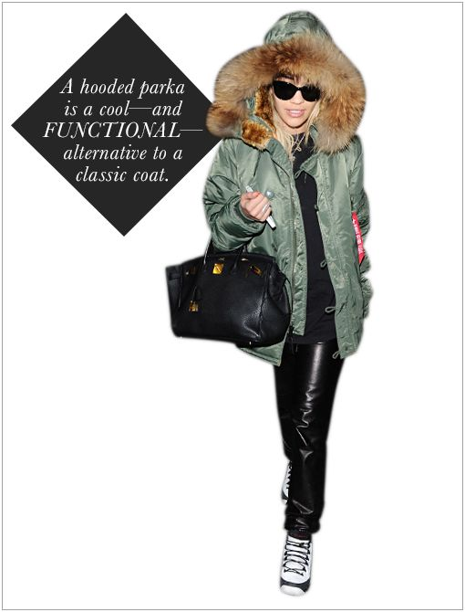Get The Look: ASOS Fur Hooded Detachable Lined Parka ($149)  Image courtesy of Splash News