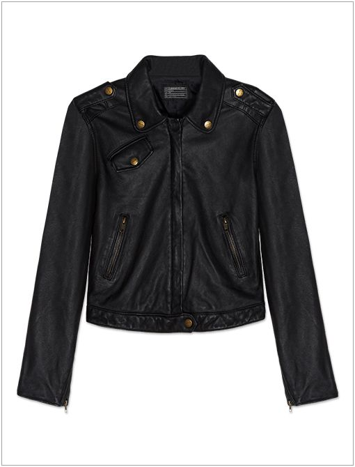 Zip Moto Jacket ($728)  Give your laidback look some downtown cool with a leather jacket.