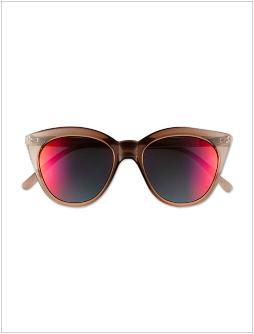 Halfmoon Magic Sunglases ($59) Bring a pair of mirrored shades for that halftime barbecue.