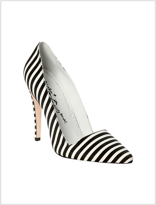 Dina Stripe Faille Heels ($295)