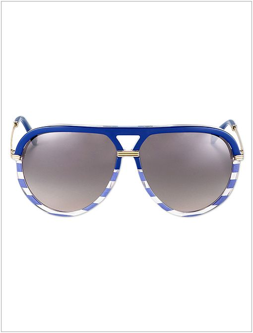 Striped Acetate Aviator Sunglasses ($325)