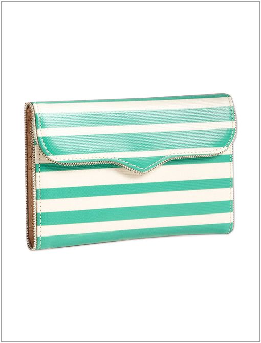 Parker Passport Wallet ($125) in Green Stripe