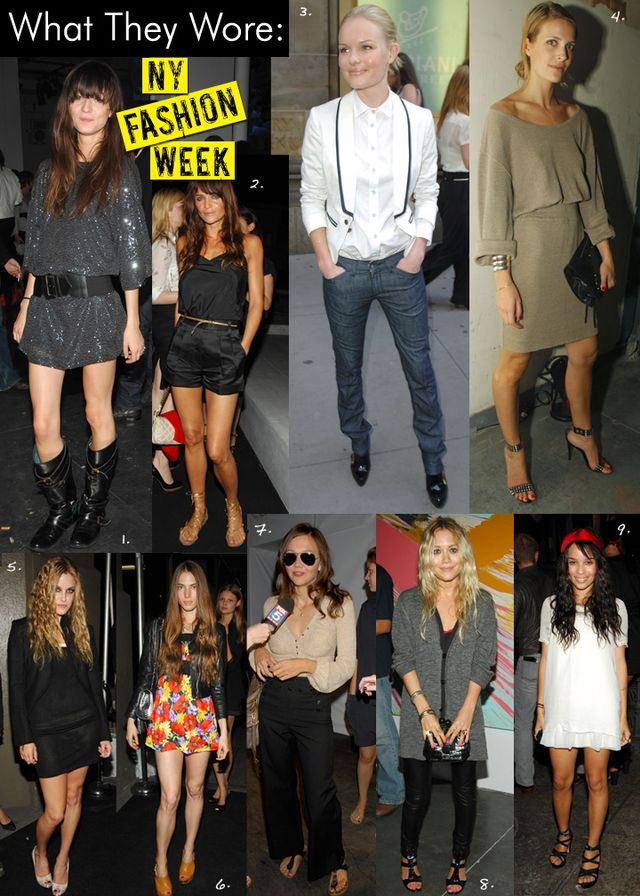 Fashion Week Spring 08/Front Row/Parties