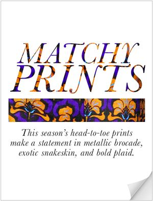 Matchy Prints