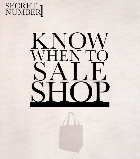 When To Sale Shop (It's Not When You Think)  Ask any shopping enthusiast the best day of the year to shop, and she'll probably answer Black Friday. While there are definitely deals...