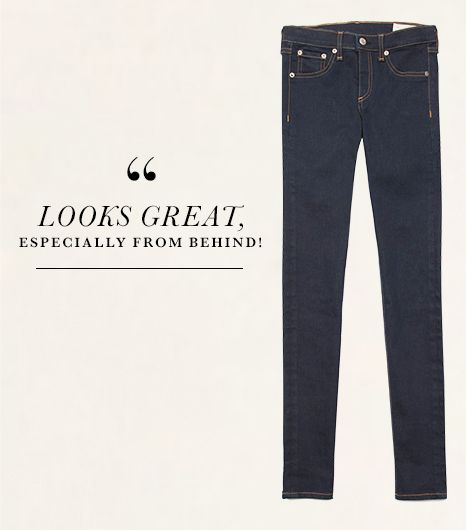 The dark wash and streamlined silhouette of Rag & Bone/Jean's Skinny Jeans ($242, 212.249.3331) in Clean Indigo are slimming on their own. But on top of that, the pants' perfectly...