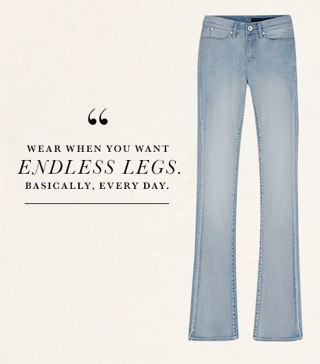 The way these slightly flared Calvin Klein Jeans Bootcut-Leg Jeans ($90) in Light Wash elongated my legs shocked me—in a good way. I had no idea my legs could look that long!