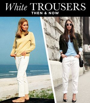 White Trousers Then & Now: From Jackie O. To Kate Hudson