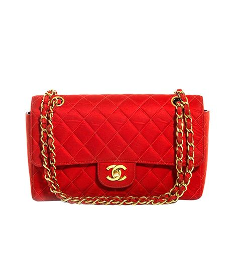 Quilted Fabric Shoulder Bag ($5172) in Red