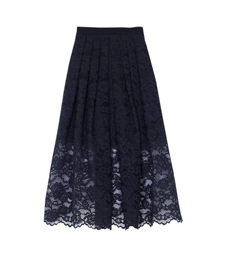 Hello, romance! From the swingy pleats to the all-over lace, this Tibi number is primed for a date night debut.