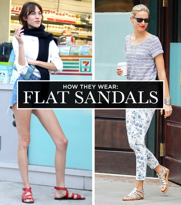 A Celebrity Guide To Wearing Flat Sandals