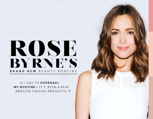 Rose Byrne's Allergy-Free Beauty Routine