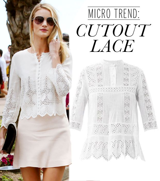 The Feminine Trend You Should Try Right Now? Cutout Lace!
