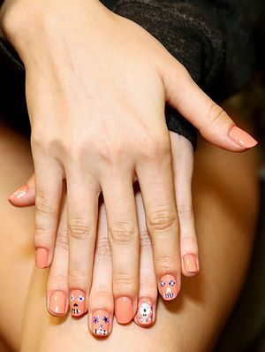 Stayin' Alive: Nail Art at Rebecca Minkoff