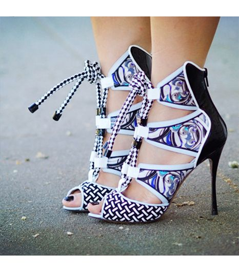 Halliedaily  Get The Look: Joie Raquel Cut Out Lace Up Shoe ($245) in Black  See more ways to wearlace-up heels on Pose.com.