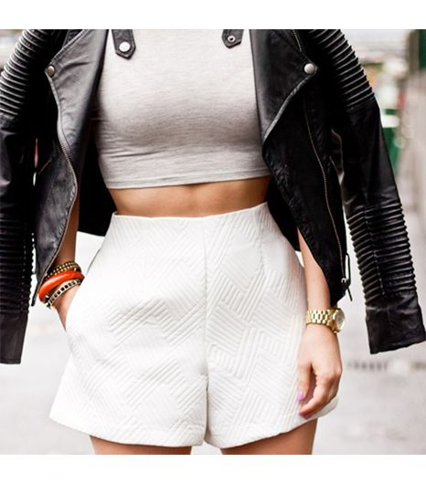 Winstonandwillow is wearing: ASOS shorts, ASOS jacket, ASOS shirt, Michael Kors watch.